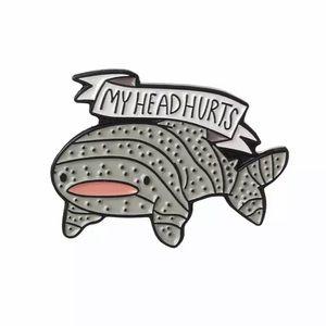 ‼️5 for $25 SALE‼️MY HEAD HURTS Cute Shark Pin